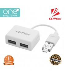 CLiPtec MOBILE COMBO ll USB + Micro OTG Combo Card Reader RZR535