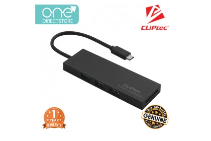 CLiPtec CHIMO USB Type-C 1+2 Hub Combo Card Reader RZR601