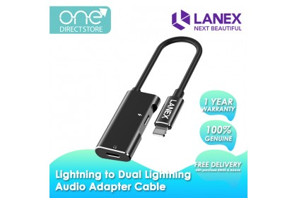 Lanex Lightning to Dual Lightning Audio Adapter Cable - LDS A01