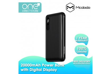 Mcdodo Panda Series 20000mAh Power Bank with Digital Display MC605