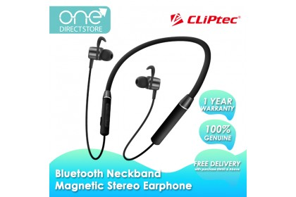 CLiPtec AIR-NECKACTIVE Bluetooth 5.0 Flexible Neckband Magnetic Stereo Earphone BNE260