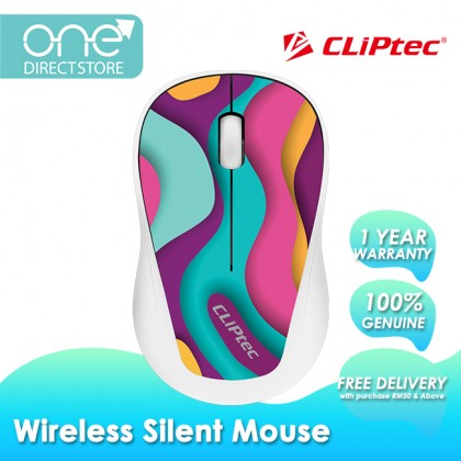CLiPtec XILENT-TRAX 2.4Ghz Wireless Silent Mouse RZS866T
