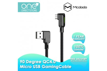 Mcdodo Glue Series 90 Degree QC4.0 Micro USB Gaming Cable 1.2M CA753