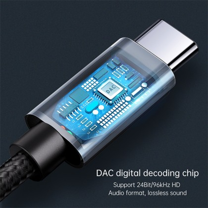 Mcdodo Beethoven Series DAC High Resolution Type-C to DC3.5mm Audio Adapter CA756