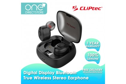 CLiPtec MINI II Bluetooth Digital Display True Wireless Stereo Earphone BTW306D