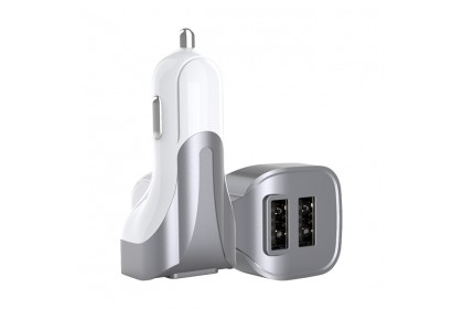 Lanex 3.1A Dual USB Ports Car Charger with 3 in 1 Cable - LCC N06T