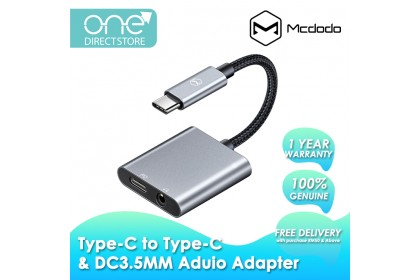 Mcdodo Boss Series 60W PD Type-C to Type-C and DC3.5mm Audio Adapter Cable CA754
