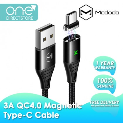 Mcdodo Storm Series QC4.0 3A Magnetic Type-C Cable 1.2M CA644