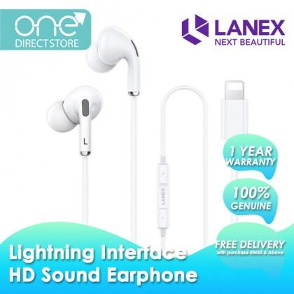 Lanex HD Sound In-Ear Wired Earphone with Lightning Connector - LEP L12