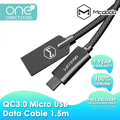 Mcdodo 2A QC3.0 USB AM To Micro USB Data Cable 1.5M CA440