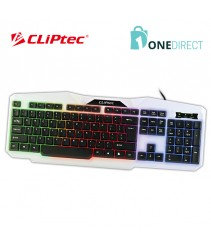CLiPtec KLASSIC-NEO USB LED Illuminated Keyboard-RZK248 (White)
