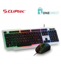 CLiPtec METEOR-NEO USB LED Illuminated Keyboard Combo Set-RZK260 (White)