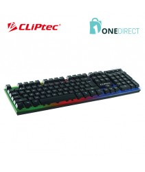 CLiPtec BLACK-NEO USB LED Illuminated Keyboard-RZK290 (Black)