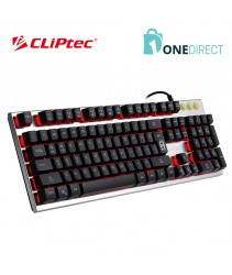 CLiPtec ZAKINAT USB LED Illuminated Gaming Keyboard-RGK751 (Silver)