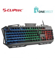 CLiPtec TITAZAOS USB LED Illuminated Plunger Gaming Keyboard-RGK775