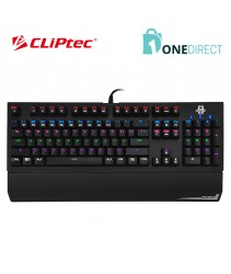 CLiPtec STEGOSOURIUS USB Illuminated Mechanical Pro-Gaming Keyboard RGK826