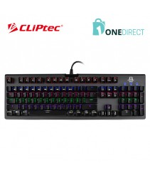 CLiPtec MEGOSOURIUS USB Illuminated Mechanical Pro-Gaming Keyboard-RGK827 (Grey)