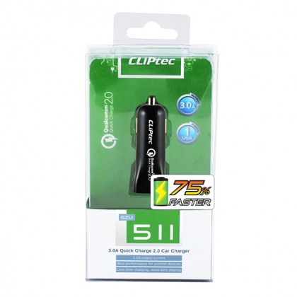 CLiPtec 3.0A Quick Charge Car Charger GZU511