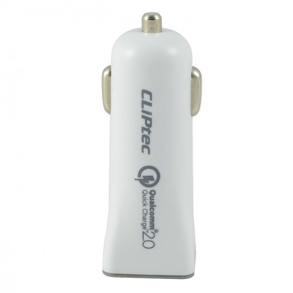 CLiPtec 3.0A Quick Charge Car Charger With Cable-GZU512 (White)