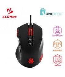 CLiPtec STENACO USB RGB 4000dpi Pro-Gaming Mouse RGS623 (Black)