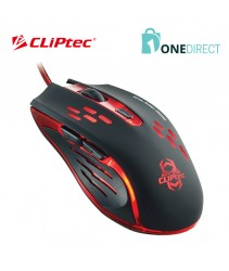 CLiPtec SAURIS 2400dpi Illuminated Gaming Mouse RGS561
