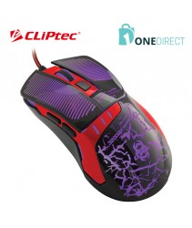 CLiPtec STENOPO 3200dpi Illuminated Gaming Mouse RGS564
