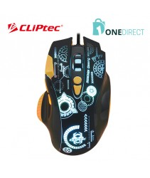 CLiPtec MARGINOT USB Illuminated 3250dpi Pro-Gaming Mouse RGS620
