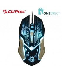 CLiPtec SANEGNOT USB Illuminated 3250dpi Pro-Gaming Mouse RGS621