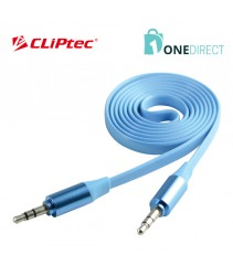 CLiPtec METALLIC Slim Flat Stereo Audio Cable OCC232
