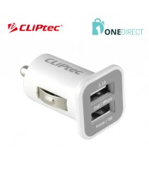 CLiPtec Dual USB Ports 3.1A Car Charger GZU365