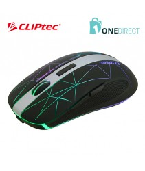 CLiPtec LINEPOLY 2.4Ghz 1600dpi Illuminated Rechargeable Wireless Mouse RZS611