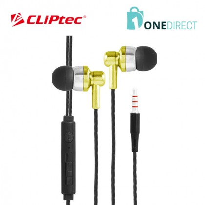 CLiPtec FIESTA-WAVE In-Ear Earphone with Microphone & Volume Control BME606