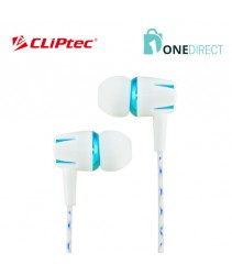 CLiPtec WHITE PARTY In-Ear Earphone with Mic. & Volume Control BME898