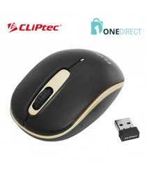 CLiPtec DIAMOND BLACK 1200dpi 2.4GHz Wireless Optical Mouse RZS854