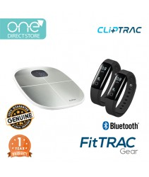 CLiPTRAC FitTRAC Gear (HR Pedometer x2 + Body Fat Analyzer Scales)