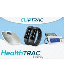 CLiPTRAC HealthTRAC Family(HR Pedometer x 2 + Body Fat Analyzer Scale + Desktop Arm Blood Pressure)