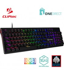 CLiPtec Stegocoria RGB Mechanical Pro-Gaming Keyboard RGK833