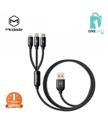 Mcdodo 3 in 1 Lightning+Micro+Type-C USB Cable 1.2M - CA335