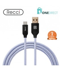 Recci 2.4A USB to Type-C Cable Fast Charging & Data Transfer 1.2M - Velocity