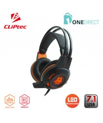 CLiPtec KEKAZOUS USB 7.1 LED Illuminated Pro-Gaming Headset BGH850