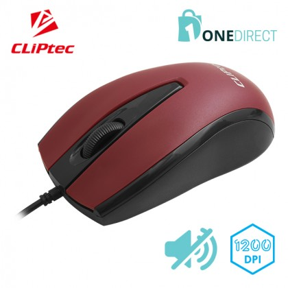 CLiPtec XILENT SCROLL 1200dpi Silent Optical Mouse RZS951