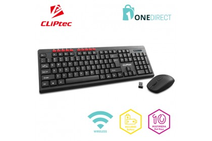 CLiPtec ESSENTIAL AIR Wireless Multimedia Keyboard and Mouse Combo Set RZK339