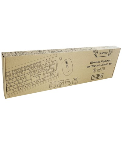 CLiPtec Wireless Multimedia Keyboard and Mouse Combo Set K139