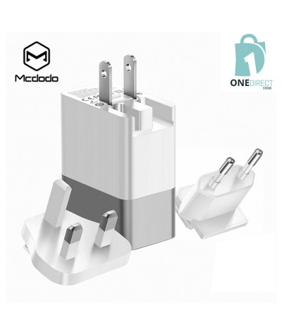 Mcdodo 3 USB Port Universal Travel Charger 3.4A With 3 Adapter