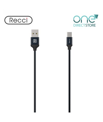 Recci USB to Type-C Cable 1M - Gravel