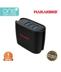 Marakoko 20W 3 Port Universal Travel Charger (4.0A) Include UK & EU Plug - MA10
