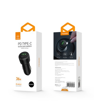 Mcdodo PD+QC3.0 Dual Output Quick Charge Car Charger- CC597