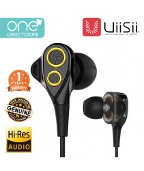 UiiSii Dual Dynamic Drivers Earphone - BA_T8