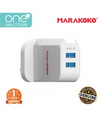 Marakoko 12W Dual Port Smart Wall Charger (2.4A) c/w Lightning Cable - MA42