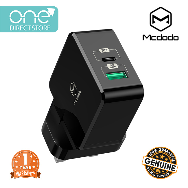 Mcdodo 30W PD + QC Dual USB Wall Charger (UK plug) (PD3.0/QC3.0/FCP/SCP/AFC) CH693